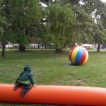 Weltball und Rolle
